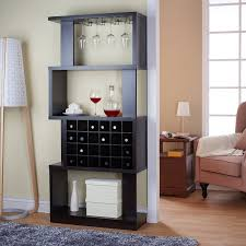 furniture of america umpton modern 4 tier wine stand room divider