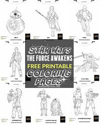 free printable star wars force awakens coloring pages