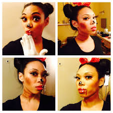 halloween makeup time lapse dead minnie mouse youtube
