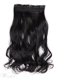 one clip in hair extensions jet black 1 instant one wave human hair clip in hair