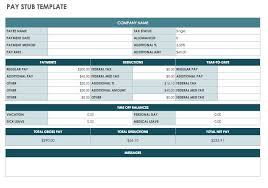 Payroll Statement Template by Free Pay Stub Templates Smartsheet