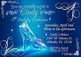 cinderella birthday invitations kustom kreations