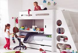 Childrens Bunk Bed With Slide White Bunk Bed Sets With Slide Study Desk Home Interiors