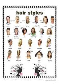 12 free esl hair style worksheets