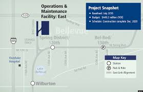 Seattle Link Light Rail Map by Project Updates Operations And Maintenance Facility East Sound
