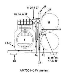 emglo airmate am700 air compressor parts