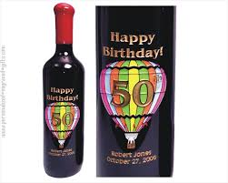 birthday drink wine engraved wine bottles for birthdays personalized u0026 etched