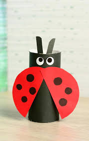Paper Roll Crafts For Kids - art craft paper toilet paper roll ladybug craft paper roll crafts