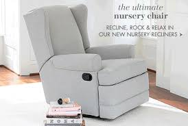 Reclining Rocking Chair For Nursery Upholstered Chairs Glider Chairs Nursing Chairs Ottomans