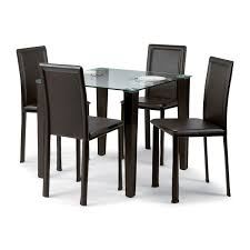 Armless Chairs Square Glass Dining Table For 4 And Black Armless Chairs Set Of