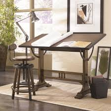 mission weathered oak architect desk by hammary wolf and