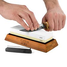 sharpening stone set premium two sided 1000 4000 whetstone knife