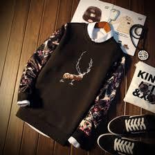 discount sweatshirt deer print 2017 sweatshirt deer print on