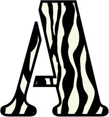 zebra letter clipart 42