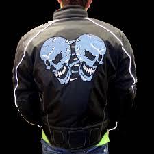reflective bike jacket men u0027s reflective skull motorcycle nylon scooter jacket