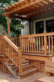 trex deck and lattice porch traditional with back deck top outdoor