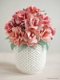 Putting Roses In A Vase Diy Paper Rose Wedding Bouquet