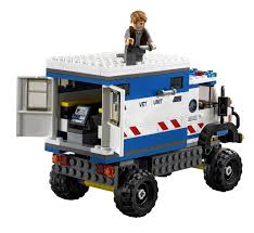 jurassic park car lego lego jurassic world dinosaur 75917 raptor rampage pack set 324pcs