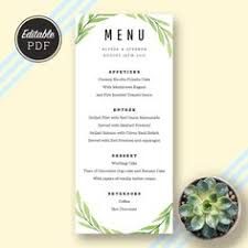 printable wedding menu template kraft wedding menu simple and