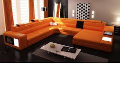 Modern Leather Sectional Sofa Dreamfurniture Com Divani Casa Polaris Contemporary Leather
