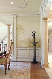 Wall Mural Stencils Elegant Mural For Dining Room Grisaille Murals - Dining room mural