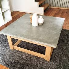 Concrete Coffee Table Magnificent Cement Top Coffee Table Of Popular Concrete The Cools