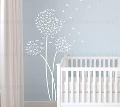 Custom Nursery Wall Decals by Dragonfly Dandelion Wall Decal Custom Nursery Dandelion Wall