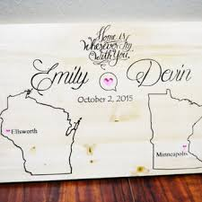 personalized wedding items personalized family name sign plaque from bravood wood design
