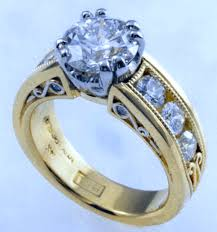 rings with diamonds images Ideal cut diamond in custom 18kt ring bijoux extraordinaire gif