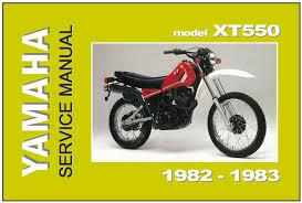 yamaha workshop manual xt550 xt550j 1982 1983 maintenance service