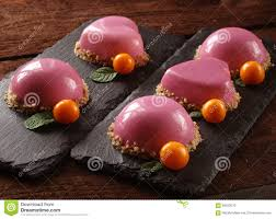 a mousse cake with mirror glaze stock image image 66523403