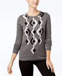 charter club argyle sweater created for macy u0027s sweaters women