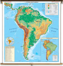 south america map atlas physical south america map