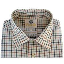 viyella tattersall check mens shirt vy0110 plum 216 aidan