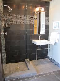 20 modern bathrooms with black shower tile glass tile showers