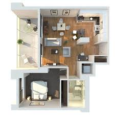 1 Bedroom Homes | 1 bedroom apartment house plans