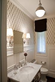bathroom with wallpaper ideas small baths with big impact classic baths trellis wallpaper and