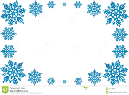 Decorative Frame Png Christmas Decorative Frame Of Blue Snowflakes Royalty Free Stock