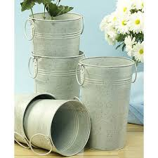 Tin Buckets For Centerpieces by Galvanized Buckets For Wedding Flowers Rustic Wedding Chic