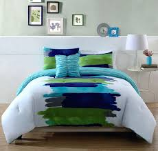 Blue Striped Comforter Set Blue And Green Comforter Set U2013 Rentacarin Us