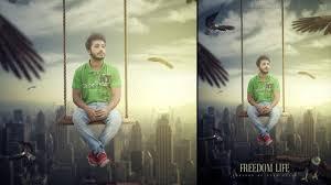 poster design with photoshop tutorial photoshop tutorial photo manipulation freedom movie poster