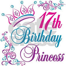 17th birthday princess note cards pk of 10 by letscelebrate