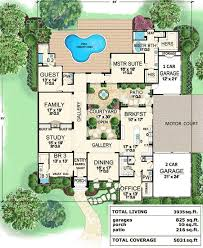 plan 36118tx central courtyard dream home courtyard house plans