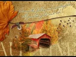 beautiful autumn thanksgiving poem