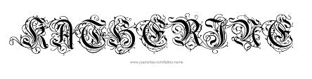 name style design katherine name tattoo designs font styles