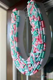 horseshoe wreath birthday party details horseshoe wreath shes kinda crafty