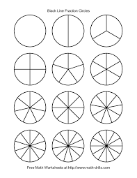 blackline fraction circles small unlabeled