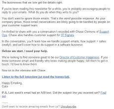 Business Letter Format Sent Via Email 5 Highly Effective Email Newsletter Examples Small Business