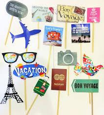 around the world theme stick props kittypartyy