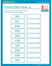 find the place value u2013 2 u2013 place value worksheet for middle